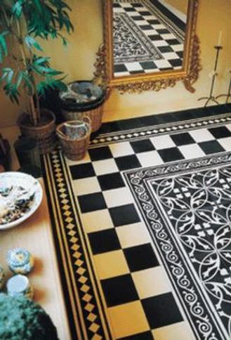 Black And Cream Gothic Modern Gothic Terra Firma Tiles