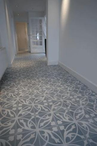 Blue st pancras city encaustics terra firma tiles - Metro vloertegels ...